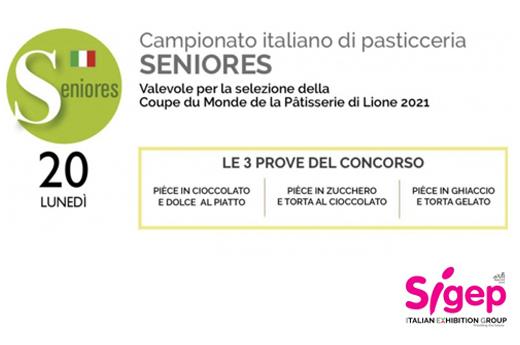 Campionato Italiano di Pasticceria Seniores, i talenti in gara.  Obiettivo: Lione 2021